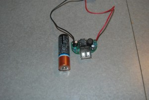 Top view of the Minty Boost circuit board