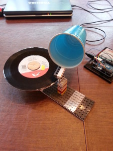 lego record player fully assembled